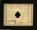 Colonial Notes:Massachusetts, Massachusetts May 5, 1780 $5 Choice About Uncirculated. A ...