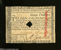 Colonial Notes:Massachusetts, Massachusetts May 5, 1780 $7 About Uncirculated.Tightly ...