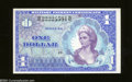 Military Payment Certificates: , Series 661 $1 Gem Crisp Uncirculated. A beautiful woman is ...
