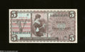 Military Payment Certificates: , Series 661 $5 Gem Crisp Uncirculated. Nice centering, wide ...