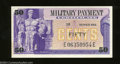 Military Payment Certificates: , Series 692 50¢ Crisp Uncirculated. A small, faint spot is ...