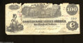 Confederate Notes:1862 Issues, T39 $100 1862. This note is bright, but the top edge is ...
