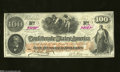 Confederate Notes:1862 Issues, T41 $100 1862. A kiss of an off-center fold is found on ...