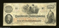 Confederate Notes:1862 Issues, T41 $100 1862. Plain paper was used for this $100 that has ...