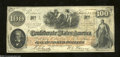 Confederate Notes:1862 Issues, T41 $100 1862. A few folds are found on this $100 that has ...