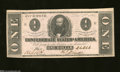 Confederate Notes:1862 Issues, T55 $1 1862. This Ace is consecutively serial numbered to ...