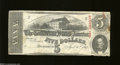 Confederate Notes:1863 Issues, T60 $5 1863. The signatures have faded some on this 2nd ...