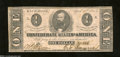 Confederate Notes:1863 Issues, T62 $1 1863. This Ace has sound edges. Very Fine.