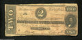 Confederate Notes:1864 Issues, T70 $2 1864. (Mrs.) F. (M.) Rhett and (Miss) N(annie) ...