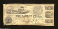"Obsoletes By State:Michigan, Utica, MI - Bank of Utica 50¢ May 1, 1838 This scarce ""..."