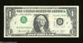 Error Notes:Inverted Third Printings, Fr. 1908-B $1 1974 Federal Reserve Note. About Extremely ...