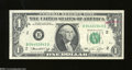 Error Notes:Ink Smears, Fr. 1908-B $1 1974 Federal Reserve Note. Very Fine. A ...