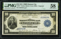 Fr. 817 $10 1915 Federal Reserve Bank Note PMG Choice About Unc 58
