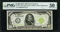 Small Size:Federal Reserve Notes, Fr. 2211-L $1,000 1934 Light Green Seal Federal Reserve Note. PMG About Uncirculated 50.. ...