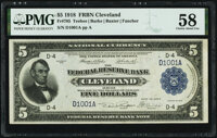 Low Serial Number D1001A Fr. 785 $5 1918 Federal Reserve Bank Note PMG Choice About Unc 58