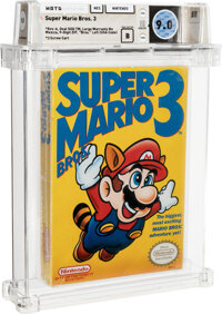 "Super Mario Bros. 3 - Wata 9.0 B Sealed [""Bros."" Left, First Production], NES Nintendo 1990 USA"