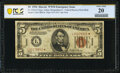 Fr. 2301* $5 1934 Mule Hawaii Federal Reserve Note. PCGS Very Fine 20