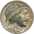 Hobo Nickels, Original Carvings From Unknown Artists.... (Total: 2 coins)