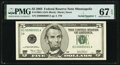 Small Size:Federal Reserve Notes, Fr. 1990-I $5 2003 Federal Reserve Note. PMG Superb Gem Unc 67 EPQ.. ...