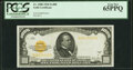 Small Size:Gold Certificates, Fr. 2408 $1,000 1928 Gold Certificate. PCGS Gem New 65PPQ.. ...