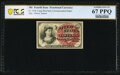 Fractional Currency:Fourth Issue, Fr. 1258 10¢ Fourth Issue PCGS Banknote Superb Gem Uncirculated 67 PPQ.. ...
