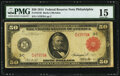 Fr. 1014b $50 1914 Red Seal Federal Reserve Note PMG Choice Fine 15