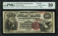 National Bank Notes:Pennsylvania, Uniontown, PA - $10 1882 Brown Back Fr. 487 The Second National Bank Ch. # 5034 PMG Very Fine 30.. ...