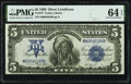 Large Size:Silver Certificates, Fr. 278 $5 1899 Silver Certificate PMG Choice Uncirculated 64 EPQ.. ...