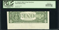 Error Notes:Inverted Reverses, Inverted Back Type II Error Fr. 1930-B* $1 2003A Federal Reserve Note. PCGS Gem New 65PPQ.. ...