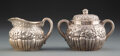 Silver & Vertu, A Tiffany & Co. Repoussé Silver Chrysanthemum Pattern Creamer and Covered Sugar Bowl, New York, 1882. Marks: T... (Total: 2 Items)