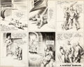 Original Comic Art:Comic Strip Art, Alex Raymond Flash Gordon Sunday Comic Strip Original Art dated 8-9-36 (King Features Syndicate, 1936)....