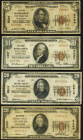 National Bank Notes:Pennsylvania, Ebensburg, PA - $5 1929 Ty. 2 The First National Bank Ch. # 5084 Very Good;. Patton, PA - $10 1929 Ty. 2 The F... (Total: 4 notes)