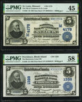 Saint Louis, MO - $5 1902 Date Back Fr. 593 The National Bank of Commerce Ch. # (M)4178 PMG Choice Extr