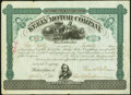 Philadelphia, PA- Keely Motor Company 20 Shares April 27, 1881 Very Fine