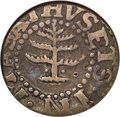 1652 6PENCE Pine Tree Sixpence, Pellets at Trunk, VF25 NGC. Noe-33a, W-670, Salmon 2*-B, R.5....(PCGS# 45367)