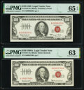 Small Size:Legal Tender Notes, Fr. 1550 $100 1966 Legal Tender Note. PMG Gem Uncirculated 65 EPQ;. Fr. 1551 $100 1966A Legal Tender Note. PMG Choice Unci... (Total: 2 notes)