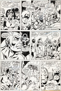 George Perez and Mike Esposito Avengers Annual #6 Story Page 3 Original Art (Marvel, 1976)