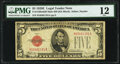 Small Size:Legal Tender Notes, Fr. 1530 $5 1928E Mule Legal Tender Note with Back Plate 629 PMG Fine 12.. ...