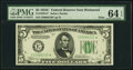 Small Size:Federal Reserve Notes, Fr. 1959-E* $5 1934C Wide Federal Reserve Note. PMG Choice Uncirculated 64 EPQ.. ...