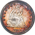 Patterns, 1863 25C Quarter Dollar, Judd-335, Pollock-407, High R.7, PR66 Cameo PCGS....