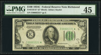 Fr. 2155-E* $100 1934C Federal Reserve Note. PMG Choice Extremely Fine 45