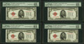 Reverse Changeover Pair Fr. 1526/1525 $5 1928A/1928 Legal Tender Notes. PMG Gem Uncirculated 65 EPQ; Choice Uncirculated...