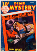 Pulps:Horror, Dime Mystery Magazine - August 1933 (Popular) Condition: VG-....