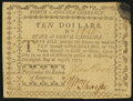 Colonial Notes:North Carolina, North Carolina August 8, 1778 $10 Persecution the Ruin of Empires Very Fine.. ...