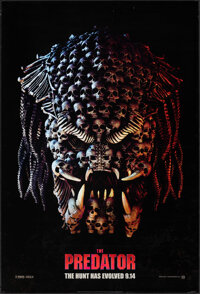 """The Predator (20th Century Fox, 2018). Rolled, Very Fine+. One Sheet (27"""" X 40"""") DS Advance, Style B. Science..."""