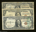 Small Size:World War II Emergency Notes, A Trio of Hawaii $1s that include Two Short Snorters.