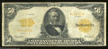 Large Size:Gold Certificates, Fr. 1199 $50 1913 Gold Certificate Fine. Although well ...