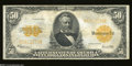 Large Size:Gold Certificates, Fr. 1200 $50 1922 Gold Certificate About Very Fine. A ...