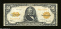 Large Size:Gold Certificates, Fr. 1200 $50 1922 Gold Certificate Very Fine. Basically a ...