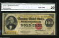 Large Size:Gold Certificates, Fr. 1215 $100 1922 Gold Certificate CGA Very Fine 20. This ...